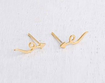 Arrow Earrings, Gold Arrow Earrings, Arrow Stud Earrings, Gold Stud Earrings, Dainty Stud Earrings, Small Earrings, Gold Earrings For Women