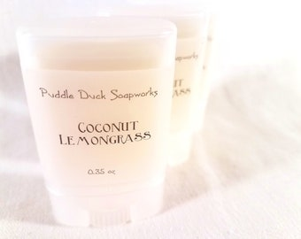 Coconut Lemongrass Solid Perfume - Sweet and Perky - Natural, long lasting personal fragrance