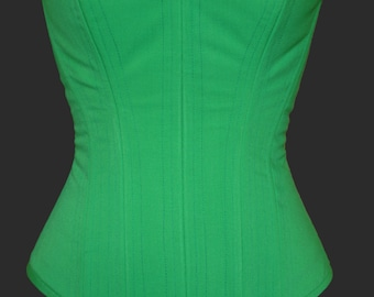 Green Overbust Steel Boned Corset