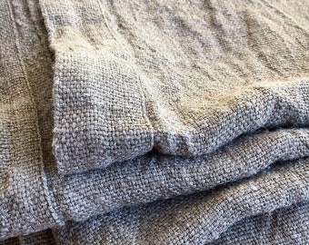 Linen bed cover, Rustic linen, Rustic blanket, linen throw, bed throw, rustic throw, natural bed covers, linen bedding, burlap bedding