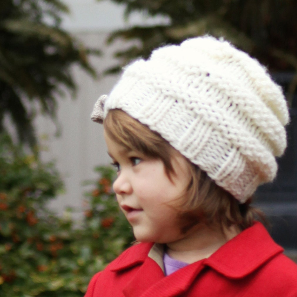 Hat Knitting Pattern, Slouchy Hat Pattern, Instant Download PDF ...