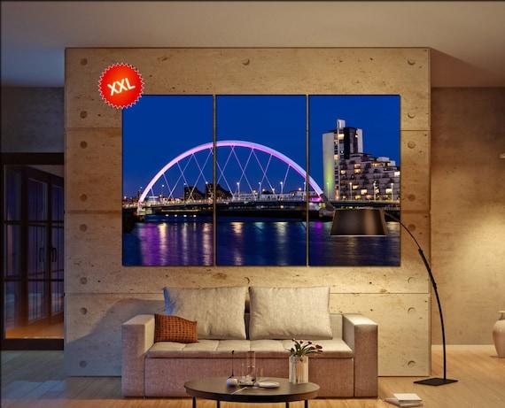 Glasgow  canvas wall art Glasgow wall decoration Glasgow canvas wall art art Glasgow large canvas wall art  wall decor