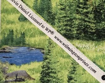 "Woods Scene Landscape Novelty Fabric F8 9""X22"""