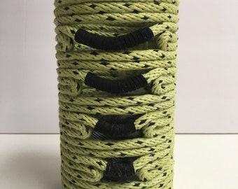 Neon Green and Black Vase