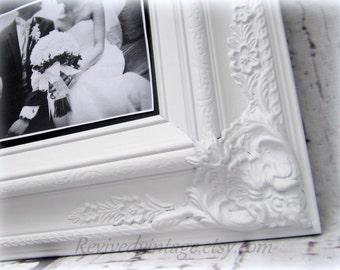 "BLACK TIE WEDDING Decor 27""x23"" Elegant Wedding Chalkboard Wedding White Wedding Board Reception Decor Unique Gift Baroque Framed Wedding"