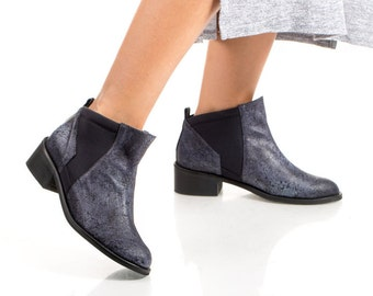 Ankle Boots For Women New Rock Blue Boots 0Q9Ze