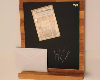 Bulletin board / memo Board magnetic Board oak