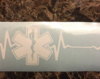 EMS Heartbeat Decal