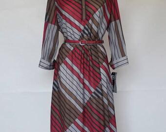 80s • Vintage • Striped Dress • 80s Vintage Dress • Summer Dress • Vintage Dress • Women's Dress • Colored Dress • Long Sleeve Dress •