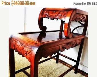 on sale 049--Chinese Ming Dy. antique1500s Huanghuali rosewood tier tea table .