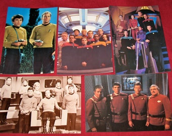 1991-1995 Star Trek Crew Postcard Set of 5  (ST24)