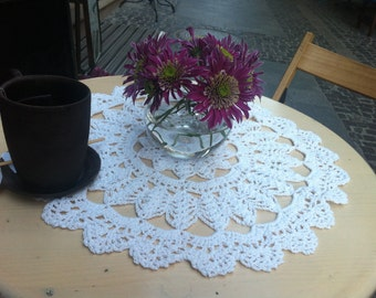 Crochet doily round - wedding gift, beauty gift home decor - Ready to ship!