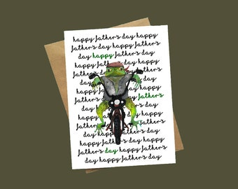 Motorbike Card, Frog Card, Father's Day Motorbike Card, Father's Day Card, Father's Day Animal Card, Dad Card, Biker Card