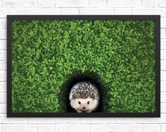 Hedgehog Wall Art. Hedgehog Art Print. Unique Gifts for Women. Hedgehog Artwork. Gifts for her. Gifts for Men. Funny Art Print.