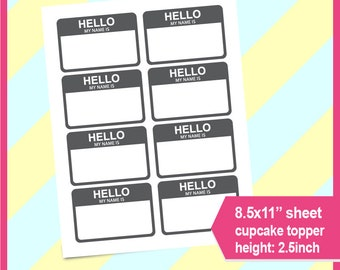 Name Tag Template Etsy - Name tag template