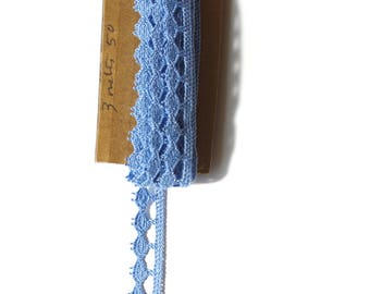 Pale blue vintage lace 3 metres50 on 11 mm it will be perfect for your creations.