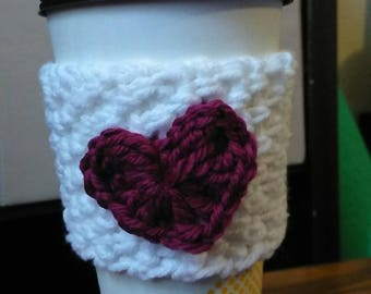 Valentine's Coffee Cozy
