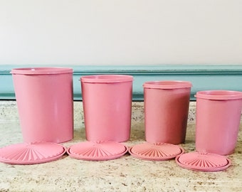 Mauve TUPPERWARE canisters