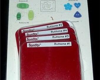 Button Die Set 38-9690 Sizzix Sizzlits 4 Buttons Dies