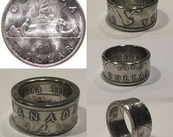 Canadian Silver Dollar Coinring *FREE SHIPPING* coinrings