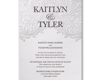 Love Everlasting Letterpress Wedding Invitation
