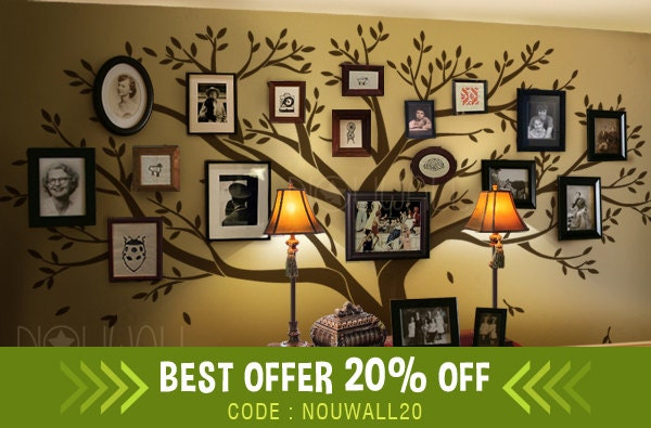 Wall decal Family Tree Wall decal Living Room Wall Decals