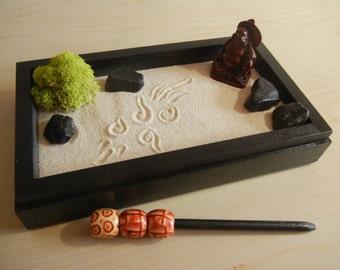 Mini03-Mini Zen Garden with Buddha - DIY Kit