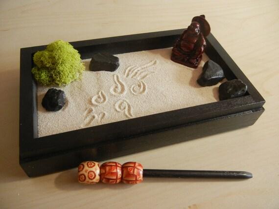 Mini03 Mini Zen Garden With Buddha Diy Kit