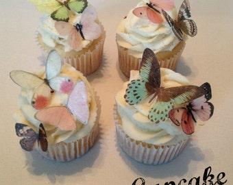 Small Pink Victorian Edible Butterflies