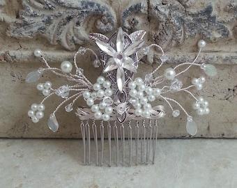 Evenstar Hair Comb Deluxe, Bridal Hairpiece,Elven Hair Accessories, Fascinator, Hair Pin, LOTR Wedding