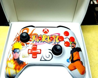 Custom [ Naruto- Xboxone Controller with orange power led. ] [Made to Order]