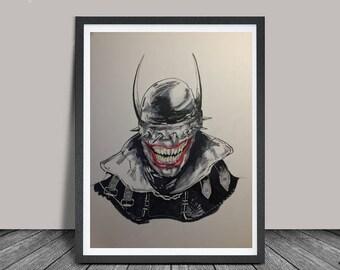 Laughing Batman - Original Piece