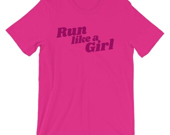 Gift for Girl- Run like a Girl T-shirt-Girls Running Shirt- Runner Girl- Gifts for Runners- Running Gifts- Running Girl T Shirt