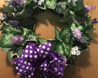 Purple grape vine Wreath
