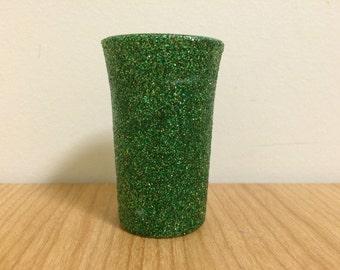 Green Glittered Shot Glass