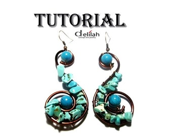 Spiral Earrings Wire Wrapped Tutorial Wire Wrap Jewelry Tutorials Wire Wrap Earrings Tutorials Spiral Earrings Tutorials Turquoise Tutorials