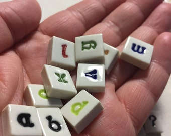 Ceramic Mosaic Tile Letter Letters Your Choice in Celtic Font Lower Case Per Each