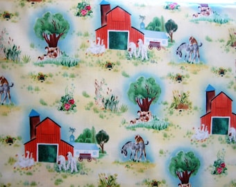 Golden Book The Fuzzy Duckling farm scenery Quilting Treasure BTHY