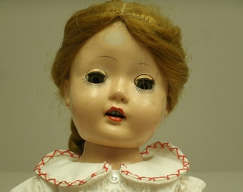 Vintage 15 in. Sleepy Eyed Ginger Hair Doll USA