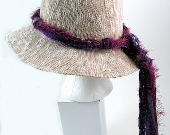 Boho Style, Hat Bands, Boho Clothing, Cowboy Hat Bands, Western Hat Bands, Hippie Clothes, Purple Hat Band, Hat Band Only (Hat Not Included)