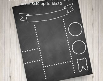 Printable Diy Blank Birthday Chalkboard Template High