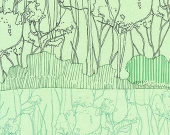 Friedlander Tree Stripe Border in Pistachio, Carolyn Friedlander, Robert Kaufman Fabrics, 100% Cotton Fabric, AFR-16610-52 PISTACHIO