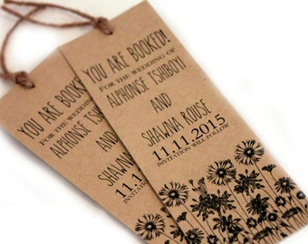 Bookmark Save the Date set, Save the date card, Bookmarks, Rustic save the dates, rustic wedding invitation, rustic wedding favors set of 20