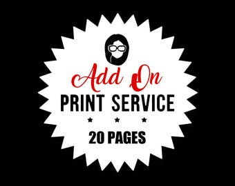 Print Service - Add On- PRINT 20 PAGES