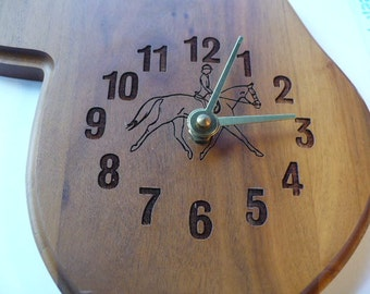 Wall Clock, Wall Decor, Horse Gifts, Gift For Her, Wood Clock, Farmhouse Decor, Country Decor, Saddle, Vintage