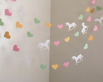Unicorn Birthday Decorations Unicorn Party Unicorn Garland Rainbows & Unicorns Baby Shower Decorations Unicorn Nursery Decor Custom Colors