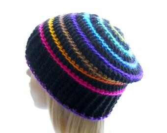 CROCHET PATTERN: Riblet, a Crochet Hat Pattern for Women and Men