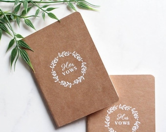 Vow book, wedding book, vow booklet