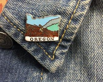 Oregon State - Travel Lapel Pin (stock# T01) enamel pin, hat pin, logging, pacific northwest