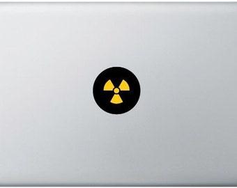 Radioactive MacBook Sticker, Laptop Sticker, MacBook Air, MacBook Pro, Vinyl Decal, Nuclear, waring signal for radiation, Chemistry